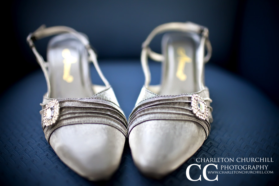 wedding shoes shiny silver roseville