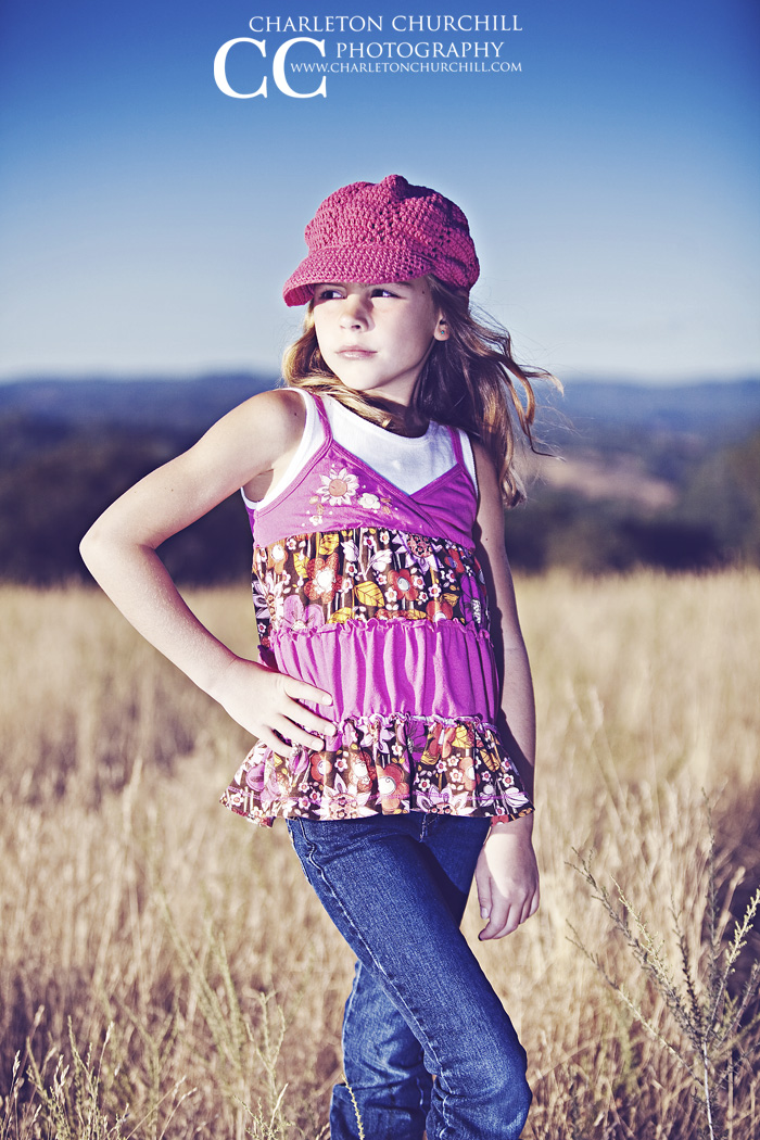 child girl in field photography