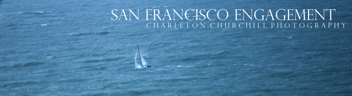sailboat in the San Francisco ocean during engagement shoot