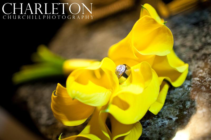 wedding ring of bride and groom in monterey beach wedding