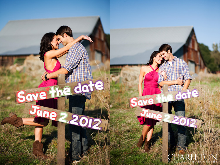 save the date engagement photograph DIY