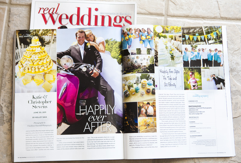 Real weddings magazine featuring Charleton Churchill Photogaphy