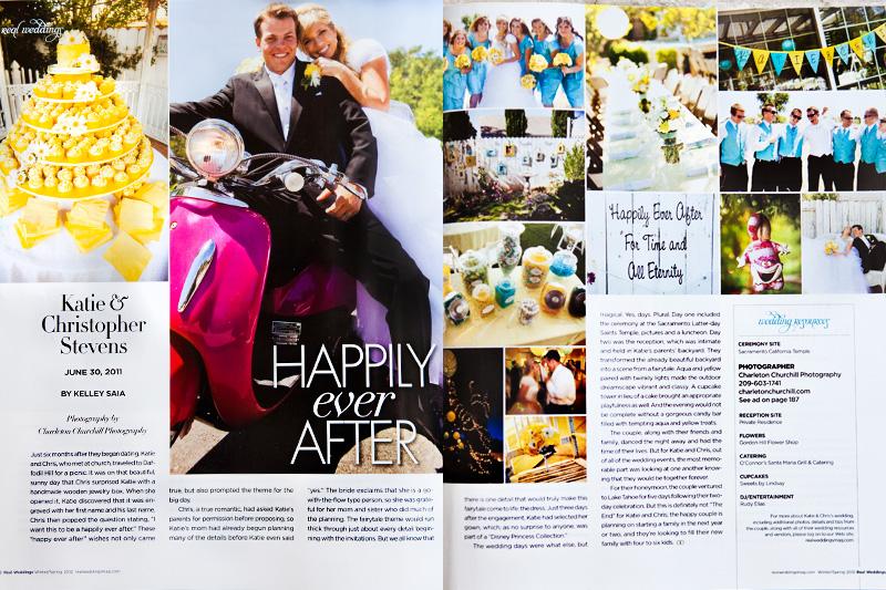 Real Weddings for brides of Sacramento Wedding Photographer Charleton Churchill