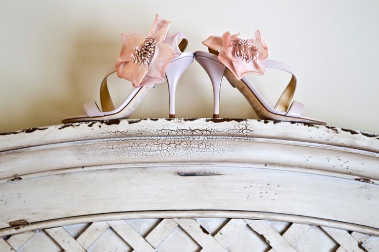 bridal shoes at Oceano Hotel