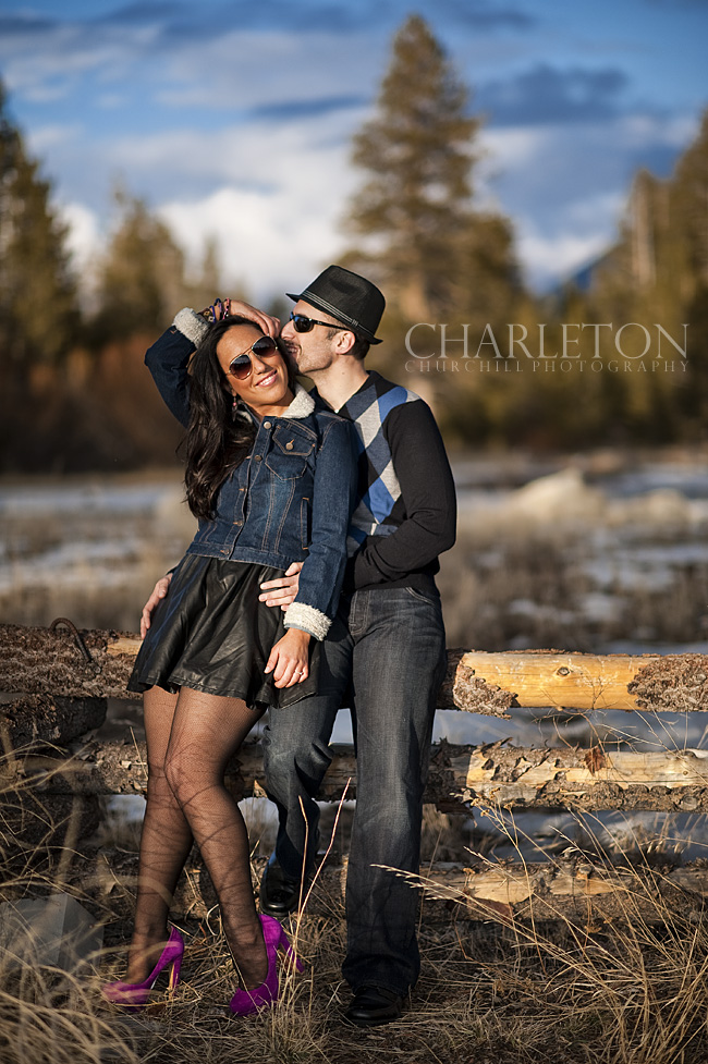South Lake Tahoe Golf course engagment session