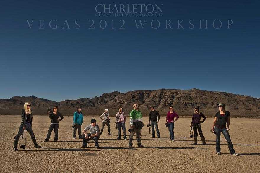 Vegas Desert workshop near MGM hotel registered guests for photography