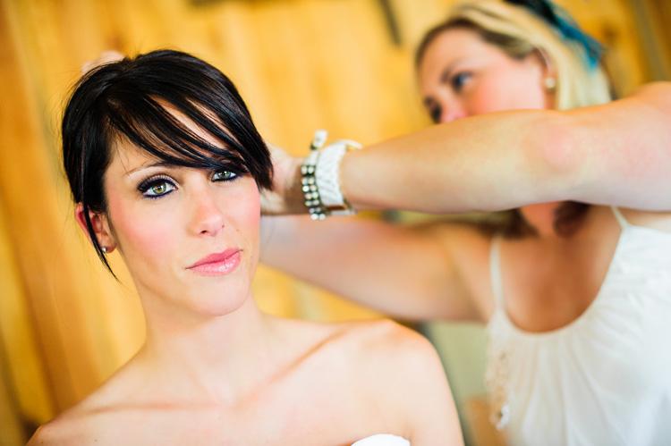 Helwig winery wedding bride getting ready