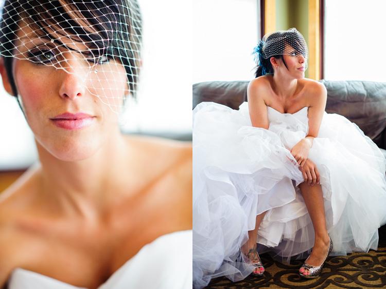 bride birdcage at shenandoah valley wedding