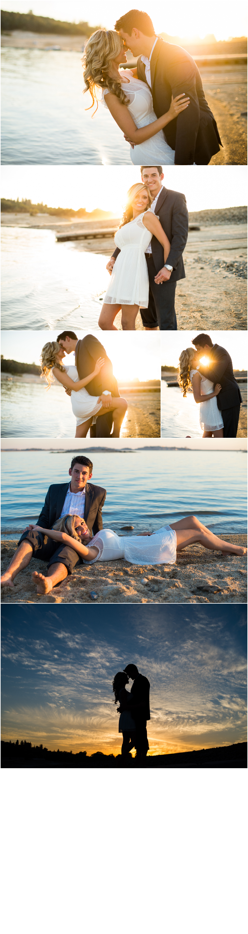 folsom lake couple at beach photographing before wedding day