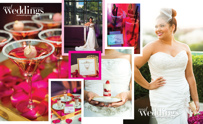 high class wedding details shoot passion for pink food, wine, dress, photography