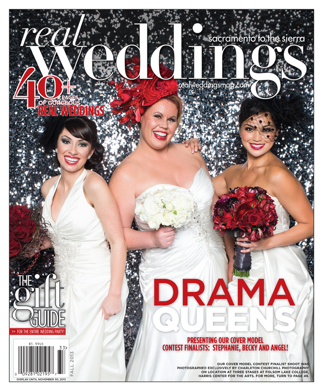 real weddings magazine three cover shoot with Angel Kang, Bekcy Becky Rust, Stephanie Lozano, Wendy Sipple