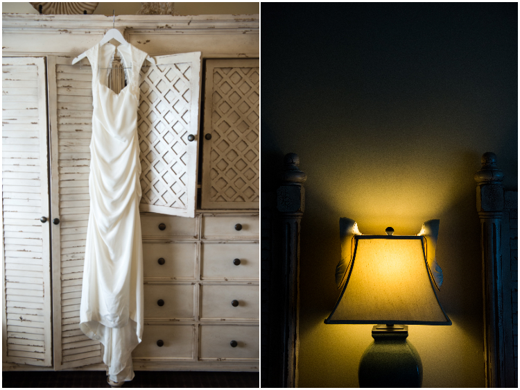 Oceano hotel wedding dress and shoe details