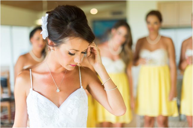 details and wedding dress at destination wedding in Hawaii by photographer