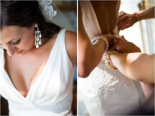 wedding dress and details of bride at venticello