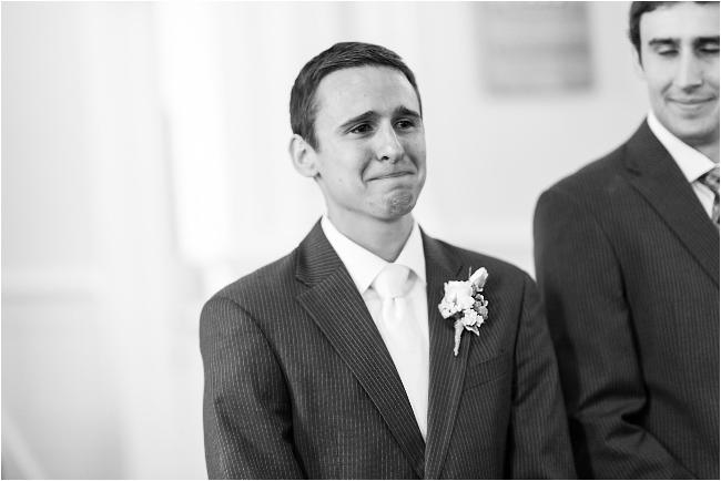 st. patricks wedding jackson groom crying at event