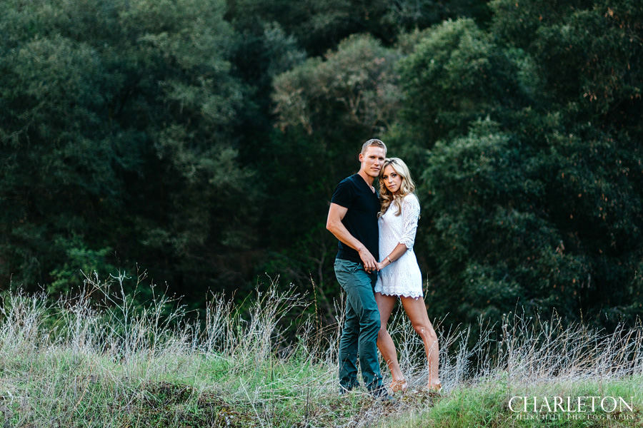 forest green engagement photography