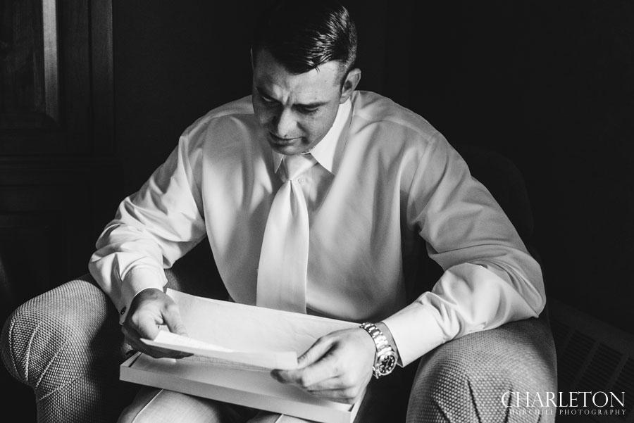 emotional groom reading bride