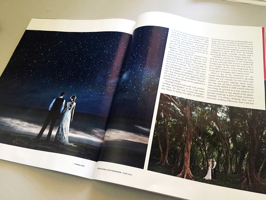adventure weddings featured in photographer magazine